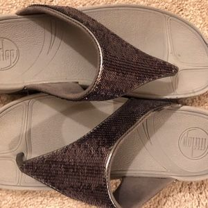Fitflop glitter thong sandals